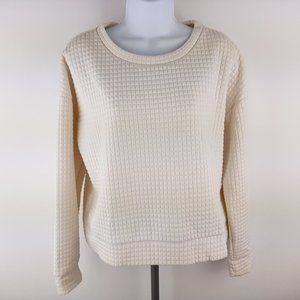 Banana Republic Women's Long Sleeve Quilted Top Si